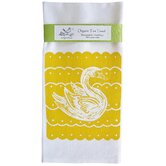 Organic Swan Block Tea Towel