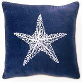 Starfish Down Filled Embroidered Velvet Pillow