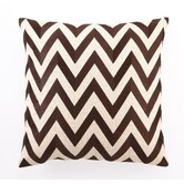 Zig Zag Down-Filled Embroidered Pillow