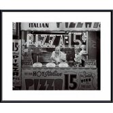 Hot Italian Pizza Metal Framed Art Print