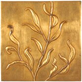 Convex Leaf Gold  Wall Art