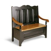 Painted Provence Monks Bench in Antique Black