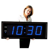 "Giant 8"" Blue Numbers Digital Wall Clock"
