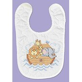 Neat and Nifty Noah's Ark Bib Stamped Cross Stitch