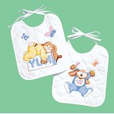 Sleepy Bunnies Bibs Counted Cross Stitch (Set of 2)