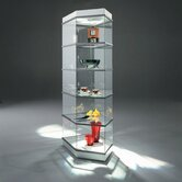 CrystalMint&reg; Pentagon Modular Display Case and Lighting Set Kit