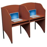Floor Carrel Cherry Laminate Study Carrel Desk