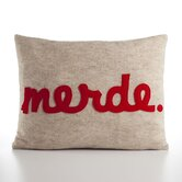"""Merde"" Decorative Pillow"