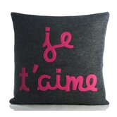 """Je T'Aime"" Decorative Pillow"