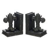 Fleur De Lis Library Bookends
