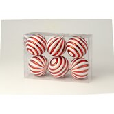 Striped Ball Boxed Ornament (Set of 6)