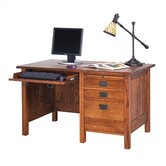 "Craftsman Home Office 53.5"" W Single Pedestal Computer Desk"