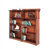 63&quot; H Double Open Bookcase