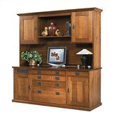 "Craftsman Home Office 72"" W Office Credenza with Hutch"