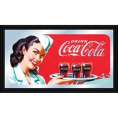 Coca Cola Vintage Mirror Horizontal Waitress with Coke