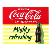 Coca Cola Mighty Refreshing Stretched Canvas Print