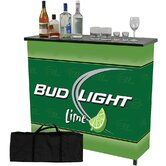 Bud Light Lime 2 Shelf Portable Bar Table with Case