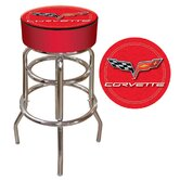 Corvette C6 Padded Bar Stool in Red