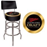 Miller Genuine Draft Padded Bar Stool with Back