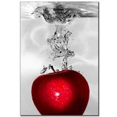 "Red Apple Splash by Roderick Stevens, Canvas Art - 32"" x 22"""