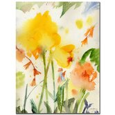 "Garden Yellows Golden, Sheila, Canvas Art  - 32"" x 24"""