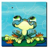 Frog's Lunch by Sylvia Masek, Canvas Art - 14&quot; x 14&quot;