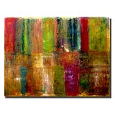 "Color Panel Abstract by Michelle Calkins, Canvas Art - 18"" x 24"""