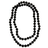 36 Inches Black Onyx Knotted Necklace