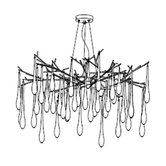 Droplet 6 Light Pendant in Chrome
