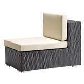 Cartagena Outdoor Armless Deep Seating Chair in Chocolate
