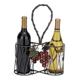 2 Bottle Tabletop Wine Rack