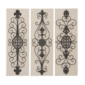 Wood and Metal Wall Decor (Set of 3)