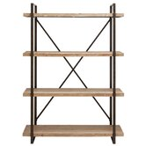 Classic Metal and Wood Shelf