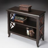 Loft Low Bookcase in Distressed Transitional Cherry