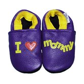 I Love Mommy Soft Sole Leather Baby Shoes