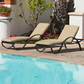 Wicker Chaise Lounges