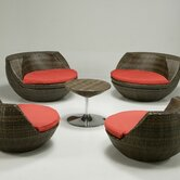 Cantina 5 Piece Lounge Seating Group with Cushions