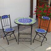 Blue Moorish Decorative 3 Piece Bistro Set