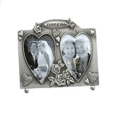 Wedding Celebrations Then and Now Double Picture Frame