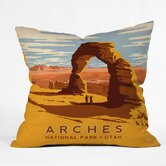Anderson Design Group Polyester Arches Indoor/Outdoor Throw Pillow