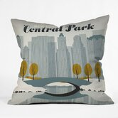Anderson Design Group Polyester Central Park Snow Indoor/Outdoor Throw Pillow