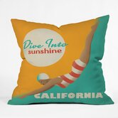 Anderson Design Group Polyester Dive California Indoor/Outdoor Throw Pillow