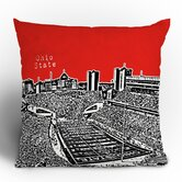 Bird Ave Ohio State Buckeyes Throw Pillow