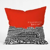 Bird Ave Wisconsin Badgers Throw Pillow