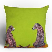 Clara Nilles Leopard Lovers Throw Pillow