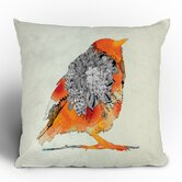 Iveta Abolina Orange Bird Throw Pillow