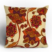 Valentina Ramos Boho Flowers Throw Pillow
