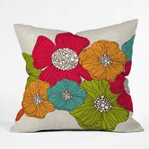 Valentina Ramos Polyester Flowers Indoor/Outdoor Throw Pillow