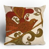 Valentina Ramos The Orange Bird Throw Pillow