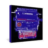 Romi Vega Continental Typewriter Gallery Wrapped Canvas